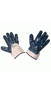 Перчатки нитриловые полуобливные манжет-крага