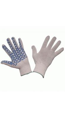 Перчатки трикотажные 5-ти нитка с ПВХ (волна)