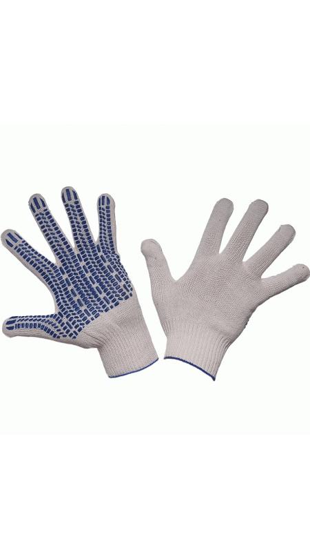 Перчатки трикотажные 5-ти нитка с ПВХ (протектор), ПЕРЧАТКИ