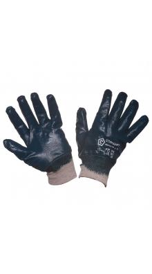 Перчатки нитриловые обливные манжет-резинка