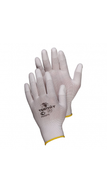 """Нейлоновые перчатки с П/У покрытием пальцев """"Термит"""""""